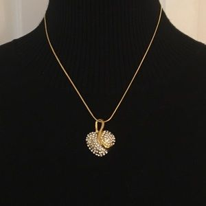 Jewelry - Crystal Heart Shaped Necklace